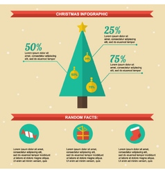 Flat design christmas infographics template vector image