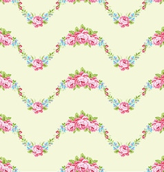 Floral pattern with garden pink roses vector