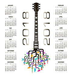 guitar tree design 876 vector image