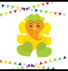 Happy ganesh chaturthi festival greeting card vector