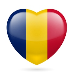 Heart icon of Chad vector image