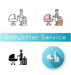 Hotel sitter icon professional babysitting vector