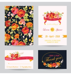 Invitation Congratulation Card Set - for Wedding vector