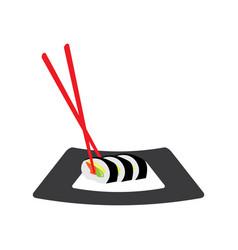 isolated sushi menu vector image