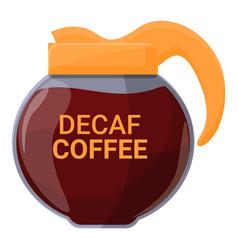 Kettle decaf icon cartoon style vector