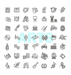 line art icon - arts entertainment vector image