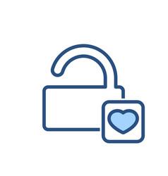 lock love open security icon vector image