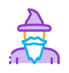 Magician wizard icon outline vector