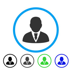 Manager rounded icon vector