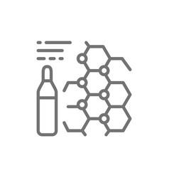 Medicine formula ampoules vaccine line icon vector