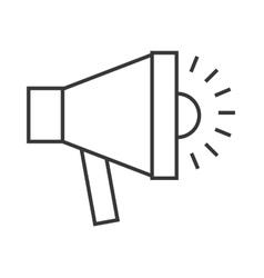 Megaphone sound anouncement icon vector