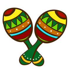 mexican maracas on white background vector image