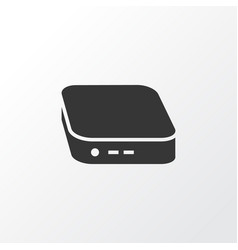 mini pc icon symbol premium quality isolated vector image
