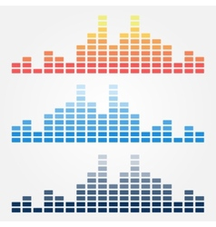 minimal sound waves icons vector image