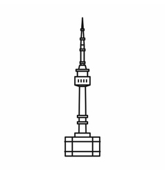 Namsan tower in Seoul icon outline style vector