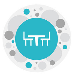 of restaurant symbol on desk vector image