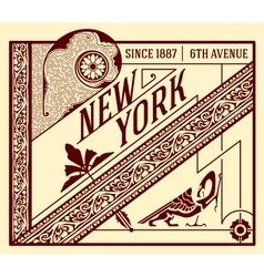 Old advertisement design - Vintage vector