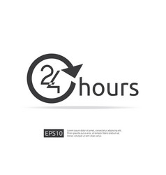 open 24 hours a day icon sign isolated around vector image