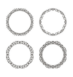 ornamental round frames vector image