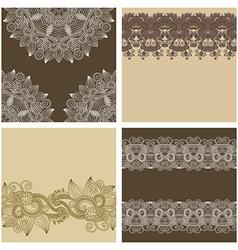 ornamental vintage floral background vector image