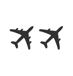 plane icons set elements for design vector image