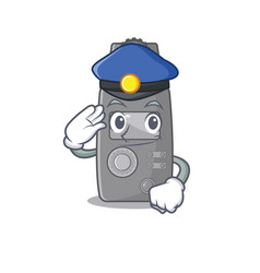 Police light meter character shape mascot vector