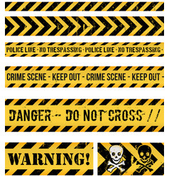 Police line crime and warning seamless tapes vector