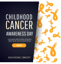 Poster for childhood cancer awareness day vector