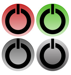 power buttons power switches turn on turn off vector image