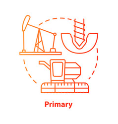 Primary red concept icon product fabrication and vector