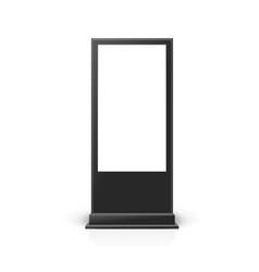 Realistic detailed 3d black digital signage mockup vector