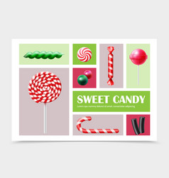 realistic sweet products set vector image
