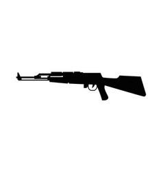 Rifle weapon silhouette isolated icon vector