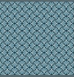 Seamless decorative pattern i blue shades vector