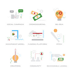 set different business strategy concepts vector image
