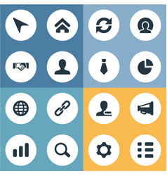 Set of simple people icons vector