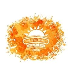 summer background holidays design vector image