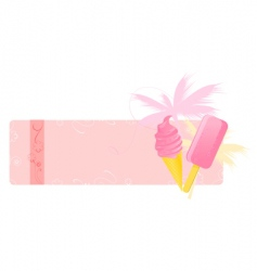 summer banner with ice creams vector image
