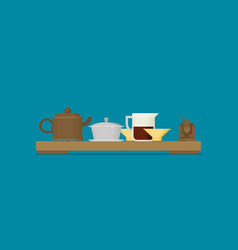 tea ceremony flat vector image