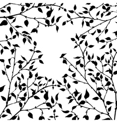 tree branches with leaves and berries vector image vector image