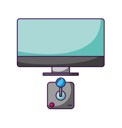 video game concept vector image