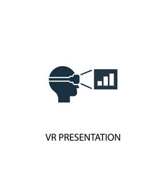Vr presentation icon simple element vector