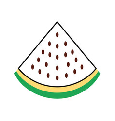Watermelon tropical and exotic fruit vector