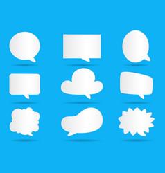 White paper communication bubbles for speech vector