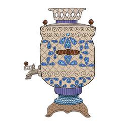 zentangle and zendoodle kettle zen tangle doodle vector image