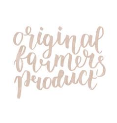 farmer s market label original farmers product vector image vector image