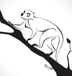 monkey 2 vector image vector image