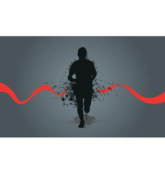 runner background vector image vector image