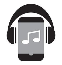 Smart phone music vector image