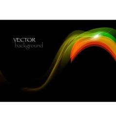 wave neon vector image